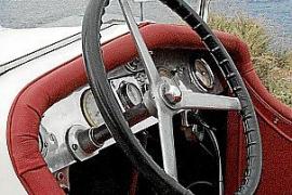 Details des Oldtimers: Das Fahrzeug wird seit Jahrzehnten liebevoll gepflegt.