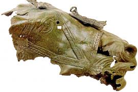 Dieses Stück stammt aus der Römerzeit. Es wird im Pollentia-Museum ausgestellt.