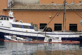 Fischerboot in Palma gesunken