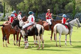 Kinder und Jugendliche beim Training in der Poloschule.