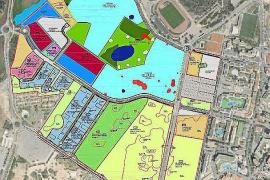 Die Fläche in Magaluf, die mit Hotels, Grünanlagen, Apartments und Parks gestaltet werden soll.