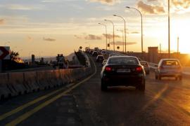 Umleitung auf der Flughafenautobahn