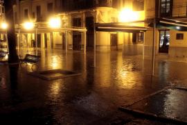 Regenfluten in Palma.