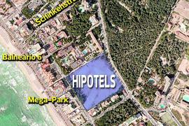 An dieser Stelle werden die beiden geplanten Hipotels-Hotels an der Playa de Palma entstehen.