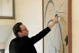 """Miró Enkel Joan Punyet erklärt das Werk """"Femme dans la nuit""""."""