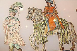"""""""Betlems de retall"""" bestehen aus bemalten, ausgeschnittenen Pappfiguren."""