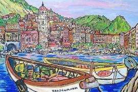 So sieht es aus, wenn Hans Peter Murmann Bilder ohne seine geliebten Schafe malt. Das Bild zeigt Portofino (Italien).