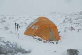 Im Schneesturm am Massanella gefangen