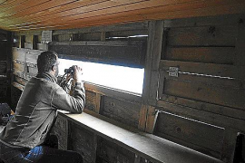 Aus Fenstern wie Schießscharten lassen sich die Vögel beobachten, ohne dass man sie stört.