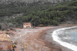 Eine Aufnahme der Cala Tuent aus dem Jahre 2009: Im Hintergrund ist das Haus Can Ganxo zu erkennen.