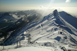 Blick vom Puig Major auf den Penyal de Migdia. Das Foto entstand am 9. Februar.