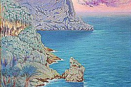 """Cap de Formentor"" (1901) von William Degouve de Nuncques."