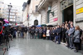 Schweigeminute der balearischen Politiker in Palma de Mallorca.