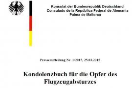 Kondolenzbuch im deutschen Konsulat