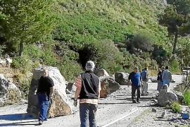 Straße zur Cala Tuent wieder frei
