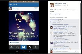 Der Künstler ärgert sich auf seiner Facebook-Seite über die Aktion von Miley.