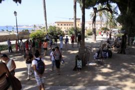Der grüne Stadtbalkon von Palma, unterhalb der Kathedrale, oberhalb der Stadtmauer.