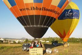 Ballon musste bei Cala Millor notlanden