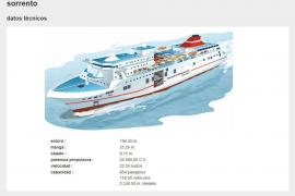 """Fährschiff """"Sorrento"""" bot Platz für 954 Passagiere"""