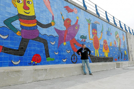 Zweites Gustavo-Wandbild für Cala Rajada