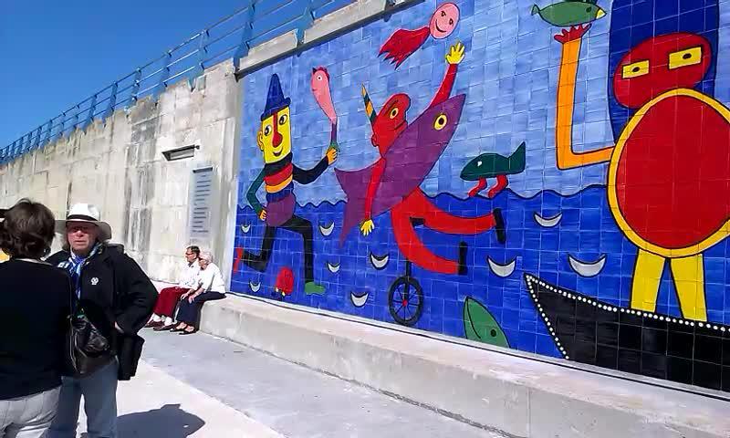 Gustavo-Wandbild offiziell eingeweiht