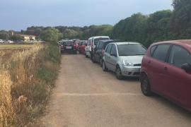 Verkehrschaos in Ses Covetes im Mai 2015.