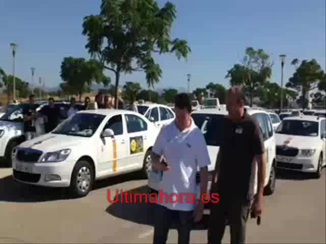 Taxi-Proteste an Playa de Palma