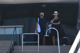 Giorgio Armani auf seiner Luxusyacht vor Formentera