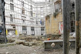 Die Baustelle, von innen aufgenommen.