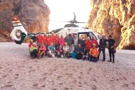 Wandergruppe nach Regen aus Torrent gerettet