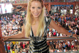 Andrea Kaiser im Mega-Park auf Mallorca.