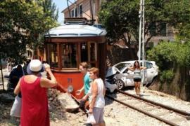 Straßenbahn in Sóller entgleist