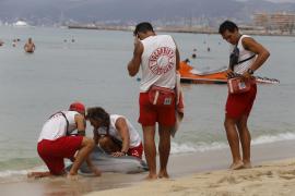 Sicherheitsübung an der Playa de Palma