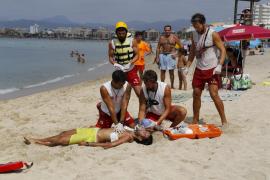 Rettungsübung auf Mallorca.