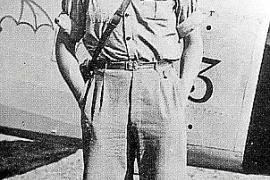 """Italo-Pilot Guido Carestiato """"Ciarotti"""". Signiertes Foto."""
