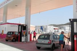 Die Tankstelle in Son Bugadelles ist eher spartanisch.
