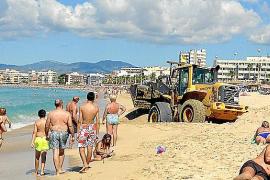 Baggern an der Playa