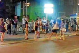 Eiine Szene aus dem Video, das offenbar den Streit der Hütchenspieler und der französischen Touristen festhielt.