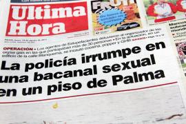 """""""Polizei unterbricht Sex-Orgie in einer Wohnung in Palma"""", lautete die Schlagzeige der spanischen MM-Schwesterzeitung Ultima Hor"""