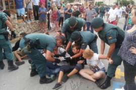 Festnahme bei Protesten gegen Stiertreiben