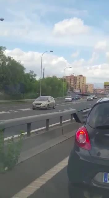 Geisterfahrerin auf Palmas Vía Cintura