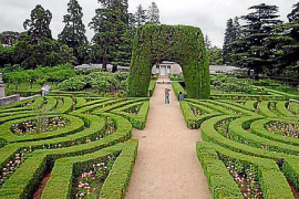 Geschnittene Hecken im klassischen Garten.