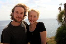 Christian Mono und Laura Hesse verbringen ihren Urlaub in Ariany