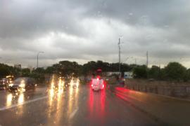 Mallorca unter Regenschauern