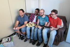 Das Team von Mutant Games: v.l. Jaime Herrera, Manuel Bravo, Rafael Caravaca und Daniel Fernández.