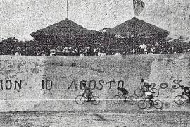 Bereits 1903 wurde die Radpiste mit den Steilwandkurven eingeweiht.