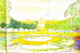 1935 entwarf der Architekt Guillem Forteza Pläne für einen öffentlichen Park mit Rondell.