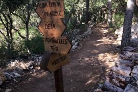 Wer viel Energie hat, kann beim Abstieg noch eine Schleife auf dem Cami de s'Arxiduc drehen