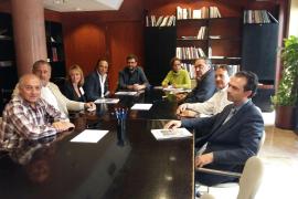Gastronomen und Kommunalpolitiker bei ihrem Treffen in Palma de Mallorca.