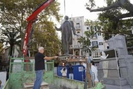 Maura-Statue wieder an ihrem Platz
